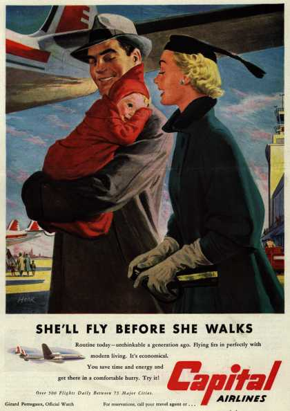 Capital Airlines – She'll Fly Before She Walks (1952)