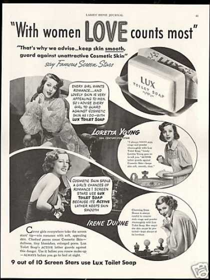 Loretta Young Irene Dunne Lux Soap (1938)