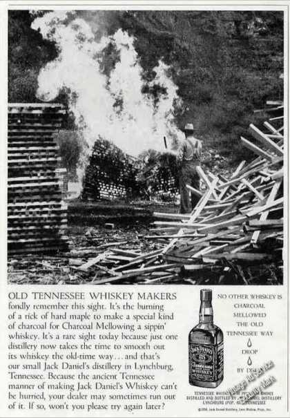 Jack Daniel's Whiskey Makers Burning Hard Maple (1958)