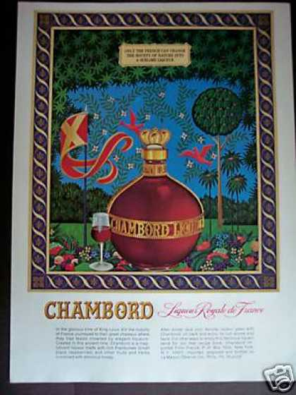 Chambord Liqueur Royale De France Art (1979)