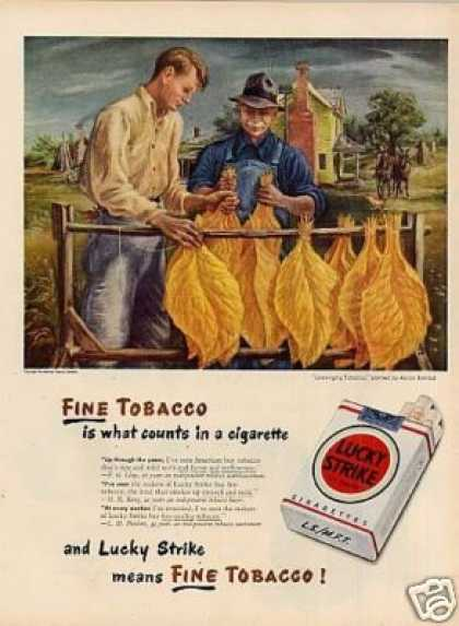 Lucky Strike Cigarettes Ad Aaron Bohrod Art (1947)
