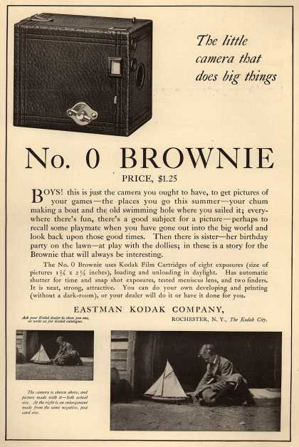 Kodak's Brownie camera, No. 0 – The little camera that does big things. No. 0 Brownie (1914)