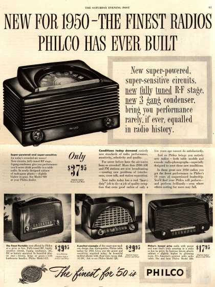 Philco Corporation's Various – New For 1950 – The Finest Radios Philco Has Ever Built (1949)