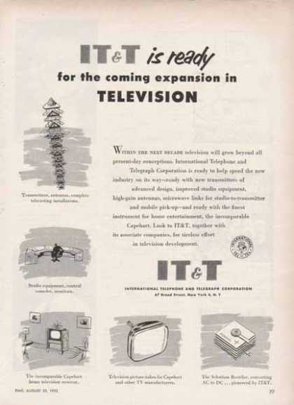 IT&T International Telephone & Telegraph – Television expansion (1952)