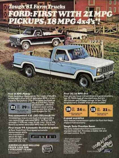 Ford Pickups for Farm Use Collectible Truck (1981)