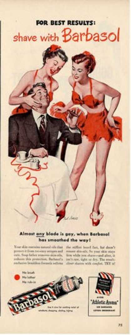 Barbasol Show Girl Dancer Carl Setter Ad T (1948)