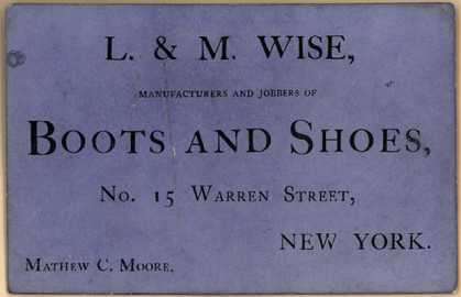 L. & M. Wise's boots and shoes – L & M Wise...Boots and Shoes
