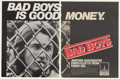 Sean Penn Bad Boys Movie Thorn EMI Video (1983)