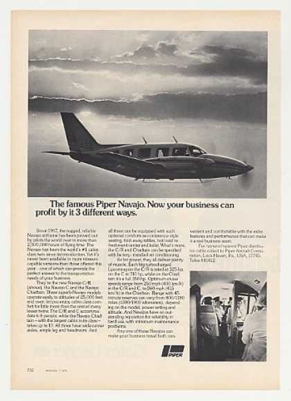 Piper Navajo C/R Airplane Aircraft Photo (1975)