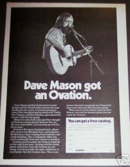 Dave Mason Photo Ovation Acoustic Guitar (1976)