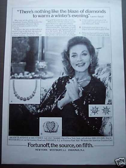 Lauren Bacall W Diamonds Fortunoff the Source (1980)