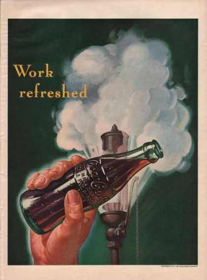 Work Refreshed Coca Cola Soda (1941)