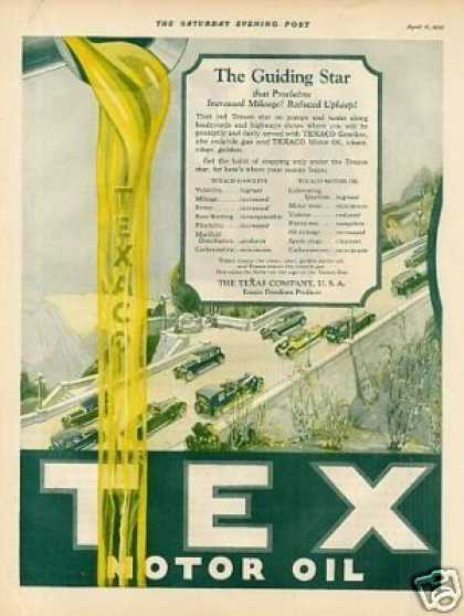 Texaco Color Ad 2 Page (1925)