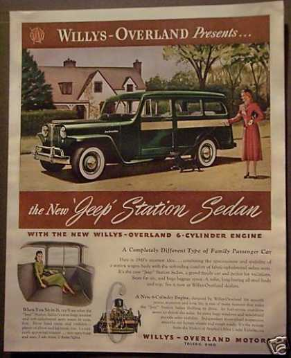 Willys-overland 'new' Jeep Station Sedan Car (1948)