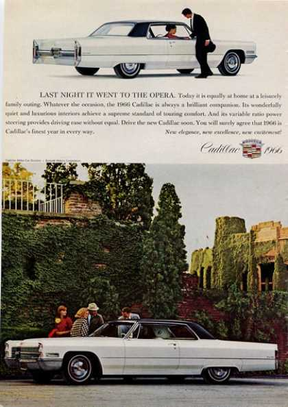 -'66 Cadillac Black On White Castle (1965)