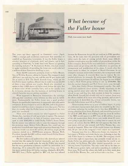 R Buckminster Fuller Dymaxion House Photo Article (1948)