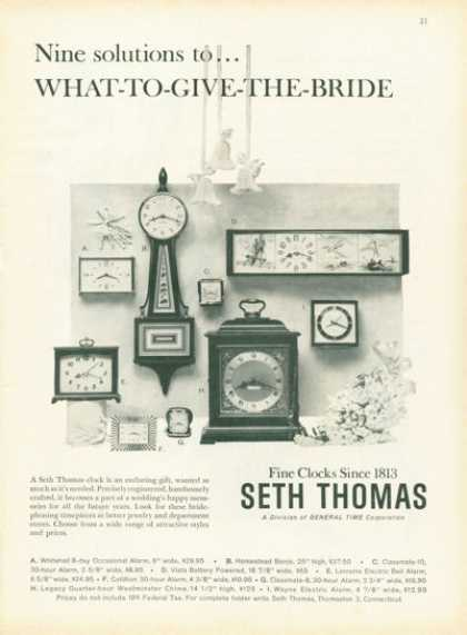 Seth Thomas Fine Clocks 9 Models Photo (1959)