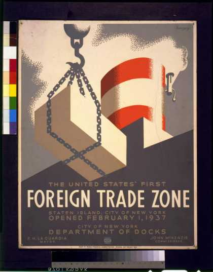 The United States' first foreign trade zone, Staten Island, city of New York, opened February 1, 1937 / Herzog. (1937)