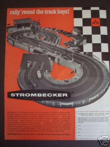 Strombecker Model Car Racing Track (1963)