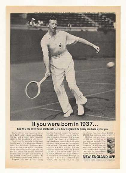 New England Life Born in 1937 Tennis Don Budge (1963)