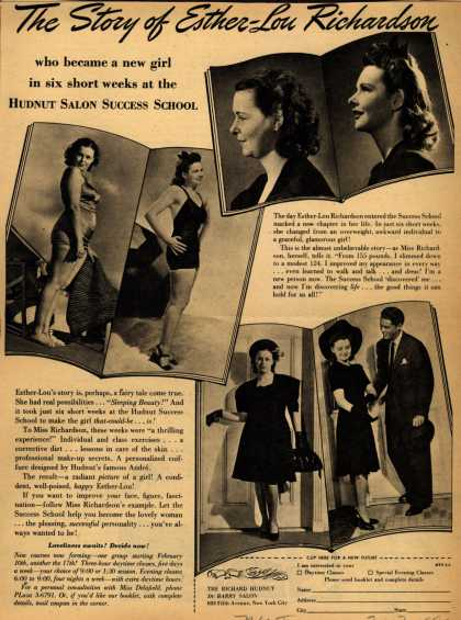 Richard Hudnut's Hudnut Salon Success School – The Story of Esther-Lou Richardson (1941)