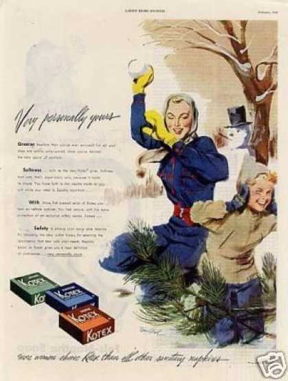 Kotex Sanitary Napkins (1949)