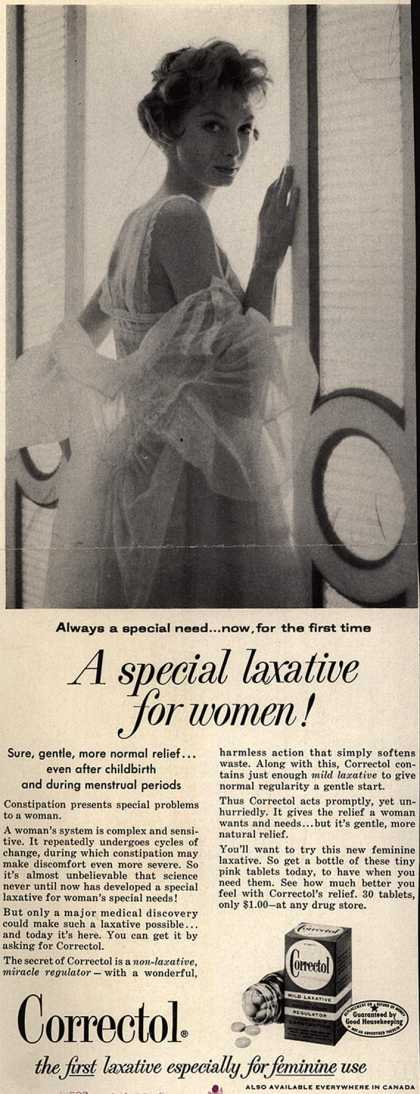 Unknown's Correctol – A special laxative for women (1958)