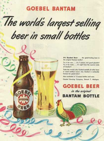 Goebel Bantam Small Bottle Beer (1948)