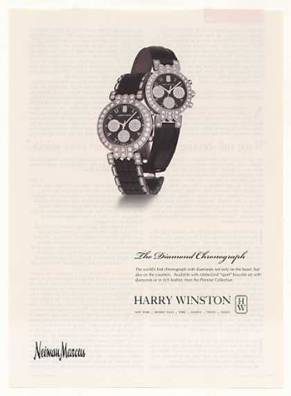 Harry Winston Diamond Chronograph Watch (2001)