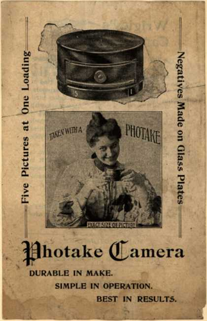 Wm. Wrigley, Jr. Co.'s Phototake Camera – Wrigley's Camera Offer...