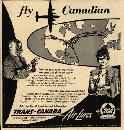 Trans-Canada Air Lines – Fly Canadian (1951)