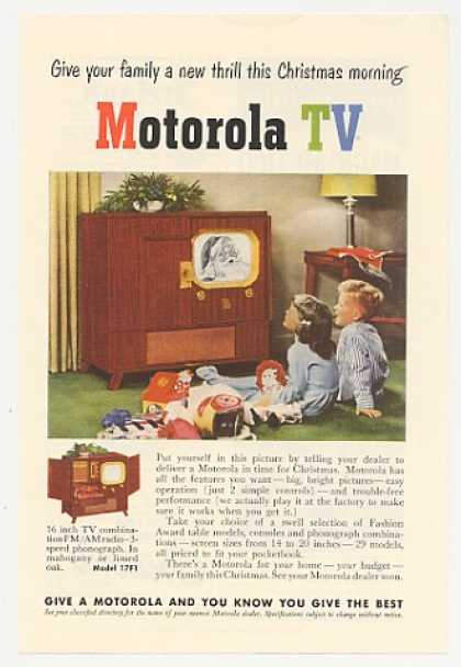 Motorola 16 inch TV Radio Phono Model 17F1 (1950)