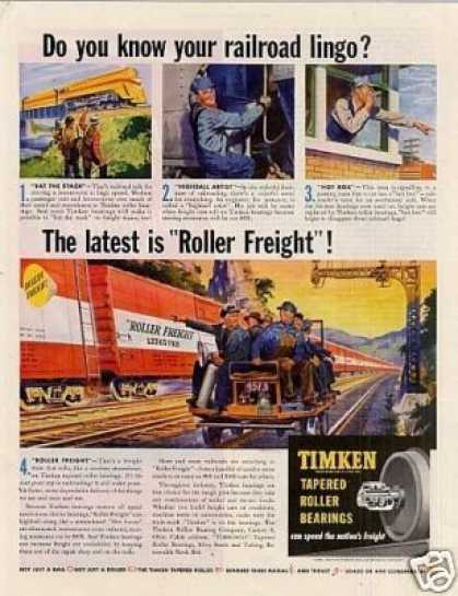 "Timken Roller Bearings Ad ""Do You Know Your... (1949)"