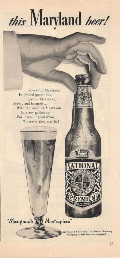 National Premium Pale Dry Beer (1948)