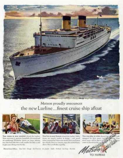 "Matson Lurline ""Finest Cruise Ship Afloat"" (1948)"