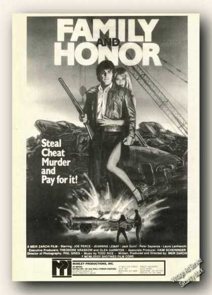 Family and Honor Movie Rare (1986)