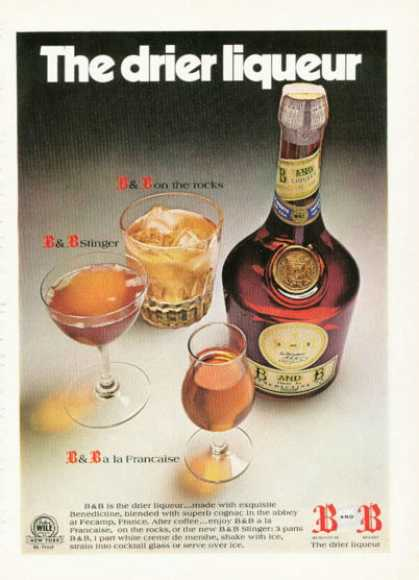 Dom B & B Liqueur Benedictine Made (1972)