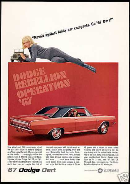 Red Dodge Dart GT Car Photo Vintage (1967)