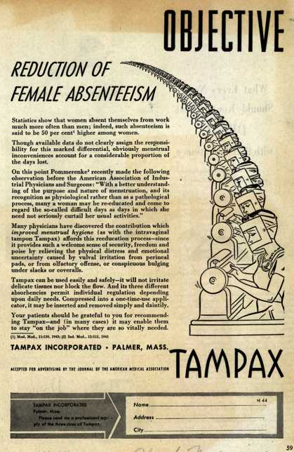 Tampax's Tampons – Reduction Of Female Absenteeism (1944)