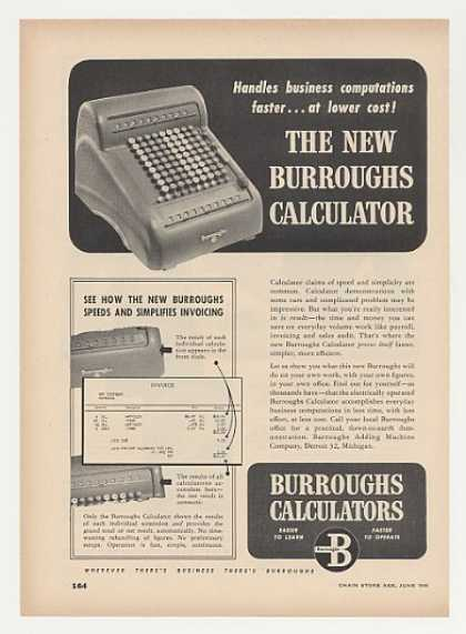 Burroughs Calculator Photo (1948)