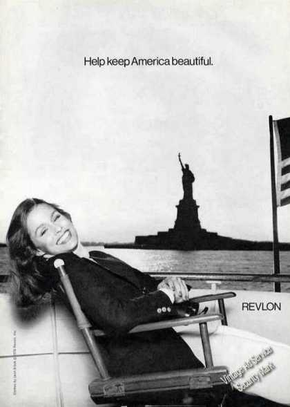 "Lauren Hutton ""Keep America Beautiful"" Revlon (1976)"