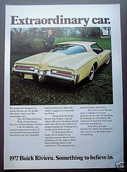 Buick Riviera Extraordinary Yellow Car (1972)