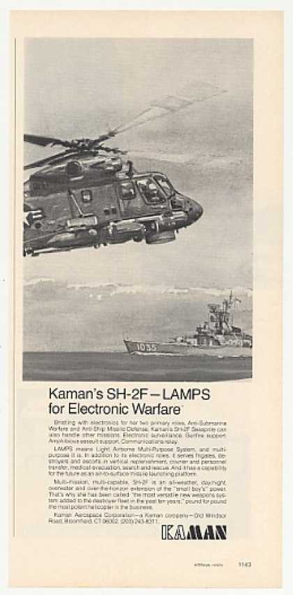 Kaman SH-2F Seasprite Military Helicopter (1974)