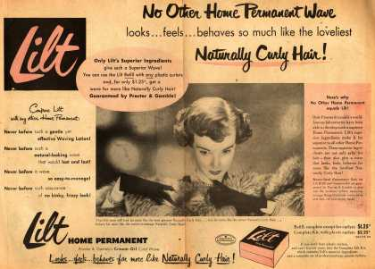Procter & Gamble Co.'s Lilt Home Permanent – No Other Home Permanent Wave looks... feels... behaves so much like the loveliest Naturally Curly Hair (1952)