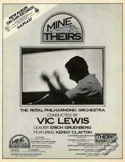 "Vic Lewis Photo ""Mine & Theirs"" Music (1974)"