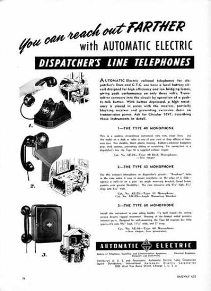 Automatic Electric Dispatcher Line Phone (1950)