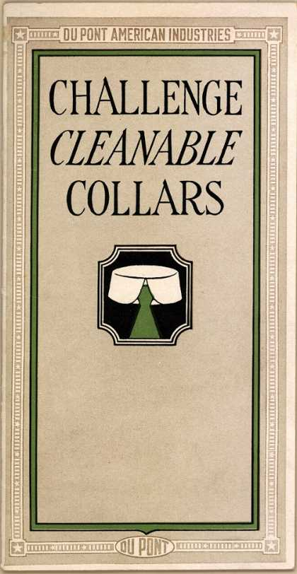 Du Pont American Industrie's collars – Challenge Cleanable Collars (1918)