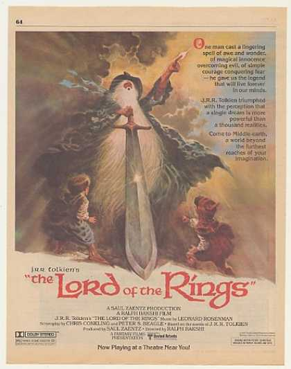 JRR Tolkien's The Lord of the Rings Movie (1979)