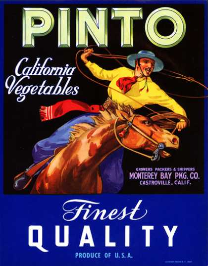 Pinto California Vegetables, c. 			s (1930)
