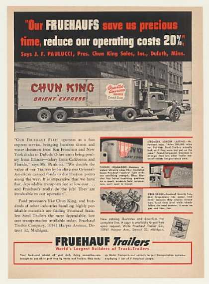 Chun King Foods Fruehauf Truck Trailer (1951)